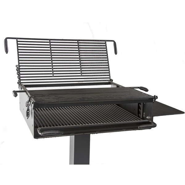 Group Park Grill 1368 Square In. Welded Steel with 6 In. Square Pedestal