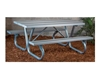 Aluminum Picnic Table 8 foot Rectangular with Bolted 2 3/8 In. Galvanized Tube