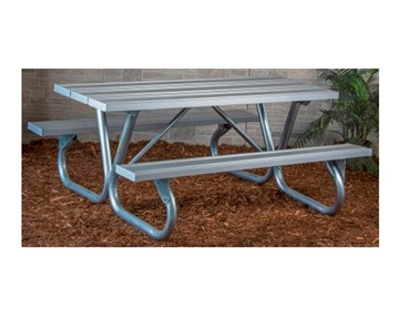 Picture of Aluminum Picnic Table 8 foot Rectangular with Bolted 2 3/8 In. Galvanized Tube, Portable