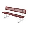 Picture of Bench with Back 6 Ft. Plastic Coated Expanded Metal with 2 3/8 In. Galvanized Tube, Portable