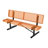 Picture of Bench With Back 6 Ft. Plastic Coated Rolled Expanded Metal with 2 3/8 In. Galvanized Steel, Portable