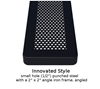 Picture of Rectangular Thermoplastic Picnic Table 6 Ft. Attached Seat Plastic Coated Small Perforated Steel with 4 In. Galvanized Steel Pedestal, In ground Mount
