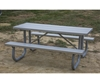 Aluminum Picnic Table 8 Ft. Rectangular with 2 3/8 In. Galvanized Steel