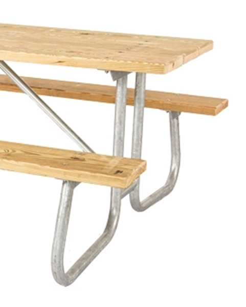 Picture of Picnic Table Frame 8 Ft. Welded 1 5/8 inch OD Galvanized Steel, Portable