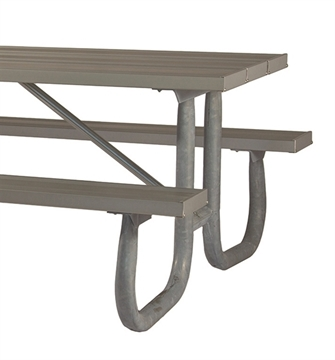 Picnic Table Frame 8 Ft. Welded 2 3/8 In. Galvanized Steel