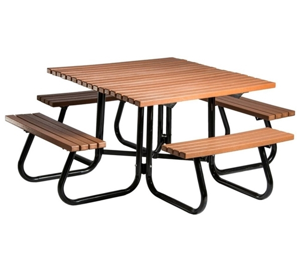 Square Picnic Table 4 Ft. Recycled Plastic