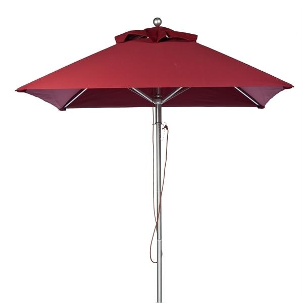 Picture of 7.5 Foot Square Aluminum Market Umbrella with Marine Grade Fabric
