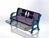 Picture of 5 Ft. Buddy Bench with Back, Classic Ribbed Steel, 110 lbs.