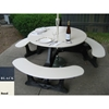 "Picture of 46"" Round Recycled Plastic Picnic Table, 155 lbs."