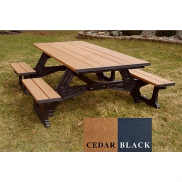 Picture of 8 ft. Wheelchair Accessible Recycled Plastic Picnic Table, 415 lbs.