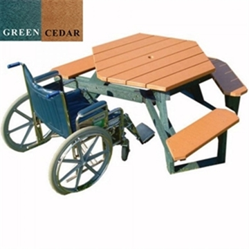 "Picture of 46"" Wheelchair Accessible ADA Round Picnic Table, 170 lbs."