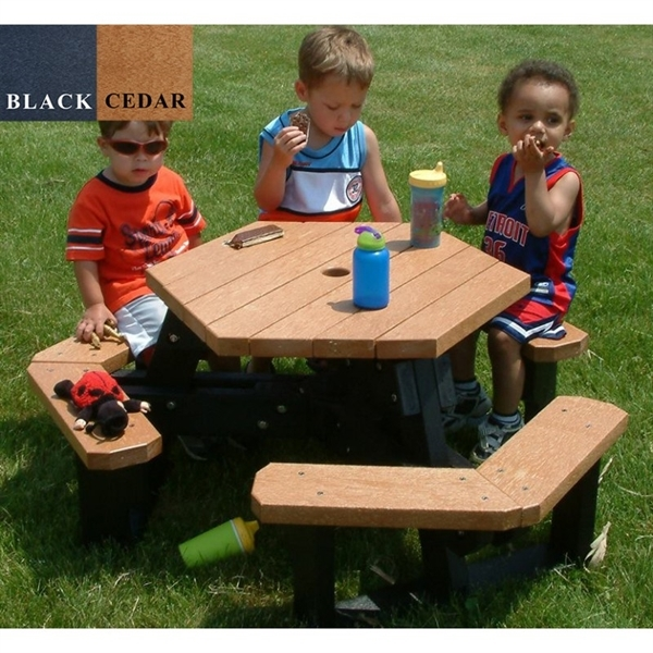 Picture of Children's Hexagonal Recycled Plastic Picnic Table, 115 lbs.