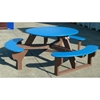 "Picture of 46"" Round Recycled Plastic Picnic Table, 212 lbs."