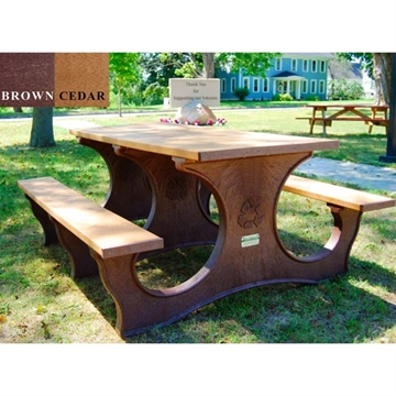 Picture of Recycled Plastic Rectangular Picnic Table, 6ft. or 8ft., 320 lbs.