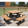 "Picture of 40"" Square Recycled Plastic Picnic Table, 288 lbs."
