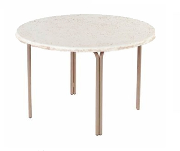 """48"""" Round ADA Compliant Faux Stone Pool & Patio Dining Table"""