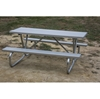 luminum picnic table 6 Ft. Rectangular with 2 3/8 In. Welded Galvanized Steel Frame