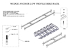 6 Space Low Profile Bike Rack 5 Ft. 1 1/16 In. Galvanized Tube