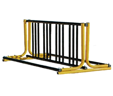 Picture of 28 Space Bike Rack, Powder Coated Steel, 1 5/8' In. OD Pipe. 16 ft. long,Portable