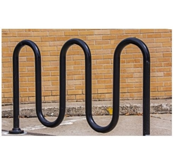 Picture of Bike Rack 7 Space Loop 71 In. Powder Coated 1 5/8 In. Pipe, In-Ground Mount