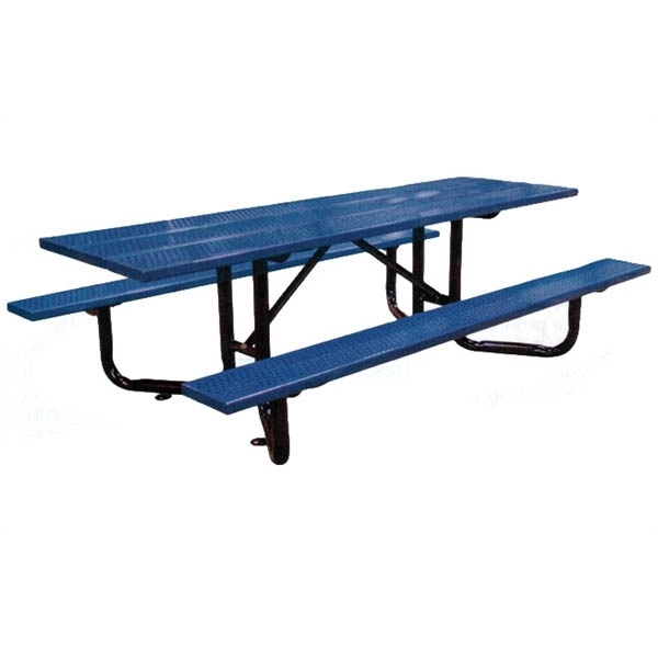 ADA Wheelchair Accessible Y-Base Picnic Table Perforated Steel