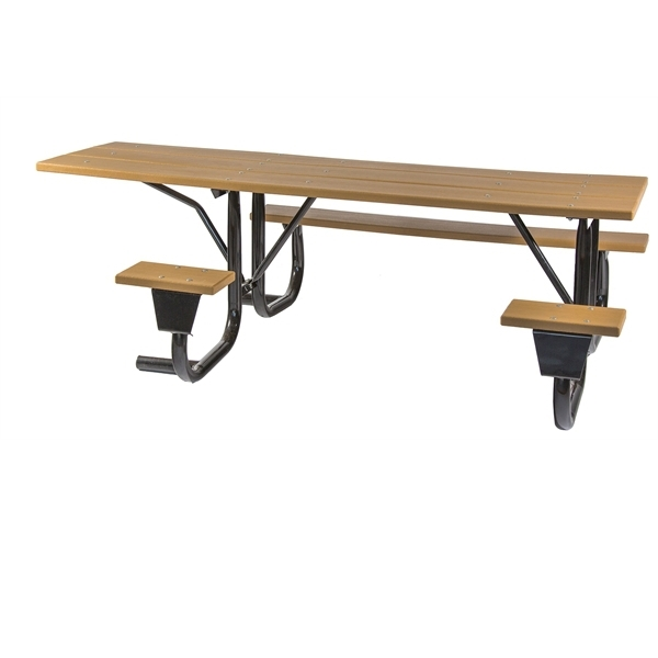 Picture of Picnic Table Frame ADA Side Wheelchair Accessible 8 Foot Welded 2 3/8 inch Galvanized Steel, Portable