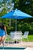 Picture of 7 ½ ft. Square Fiberglass Market Umbrella, Marine Grade Fabric, 21 lbs.