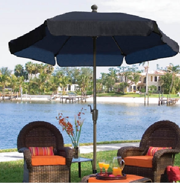 Fiberbuilt Garden Umbrella 7 1/2 Ft. Hexagon with Two Piece Aluminum Pole