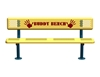 Picture of 6 Ft. Buddy Bench with Back, Perforated Steel, 168 lbs.