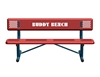 Picture of 8 Ft. Buddy Bench with Back, Perforated Steel, 168 lbs.