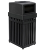 Picture of Steel Trash Can with Ashtray, 25 Gallons, Portable 60 lbs.