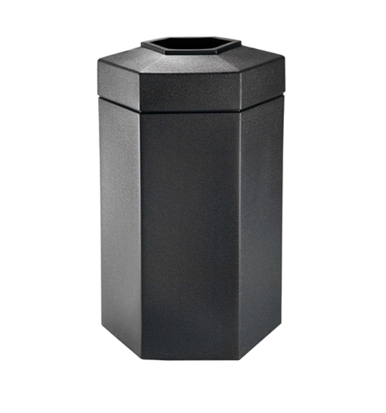 50 Gallon Plastic Hexagonal Trash Can