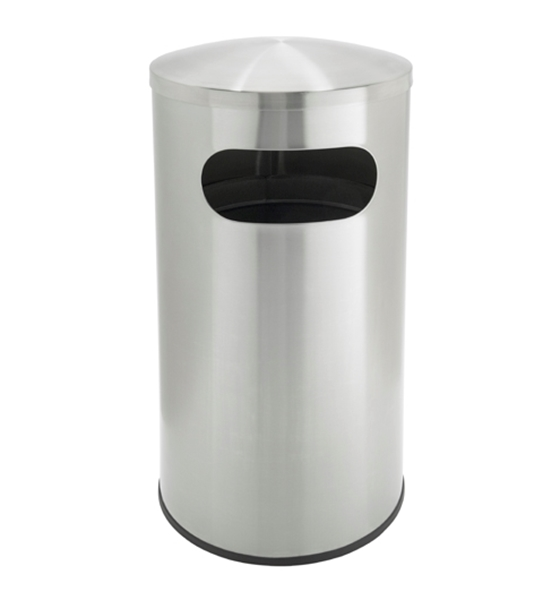 Picture of 15 Gallon Stainless Steel Trash Can, Portable, 22 lbs.