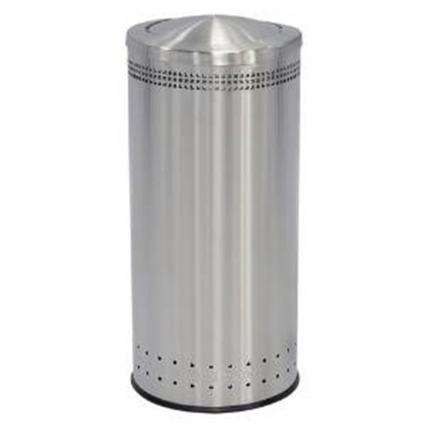 25 Gallon Stainless Steel Trash Can with Swivel Top