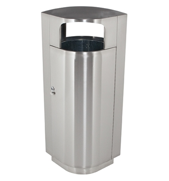 Picture of 20 Gallon Stainless Steel Trash Can with Door, Portable 41 lbs.