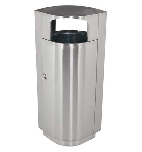 20 Gallon Stainless Steel Trash Can with Door