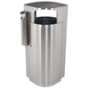 Picture of 20 Gallon Stainless Steel Trash Can with Cigarette Receptacle, Portable 45 lbs.
