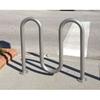 5 Space Galvanized Wave Bike Rack