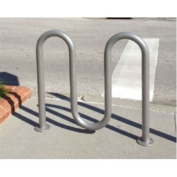 5 Space Galvanized Wave Bike Rack