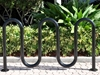 Picture of Quick Ship Bicycle Racks, 7 Space Wave Bike Rack, In-ground or Surface Mount