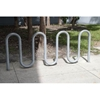 9 Space Galvanized Steel Wave Bike Rack
