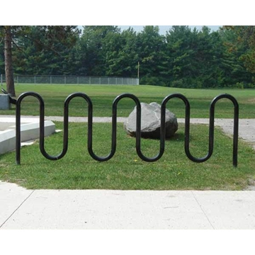 11 Space Wave Bike Rack