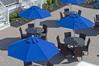 Quick Ship Market Umbrella 11 Foot Octagonal Fiberglass Market Umbrella with Pacific Blue Marine Grade Fabric