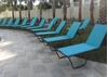 Picture of St. Maarten Sling Chaise Lounge with Powder Coated Aluminum Frame, 19lbs.