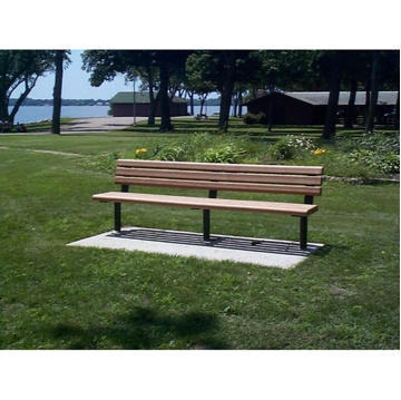 6 Ft. Recycled Plastic Bench with Armless Steel Frame