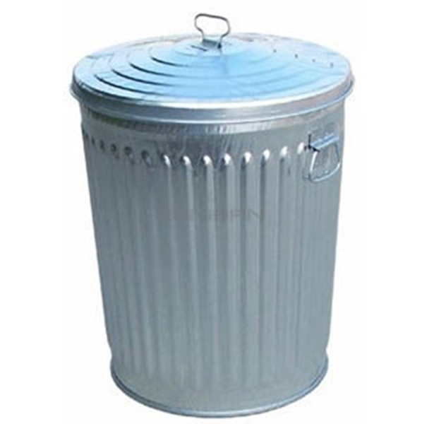 Picture of Quick Ship Galvanized Trash Can 32 Gallon with Lid, Portable