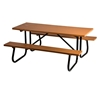 Picture of Rectangular Picnic Table 6 Ft. Recycled Plastic with Powder Coated 1 5/8 In. Frame, Portable