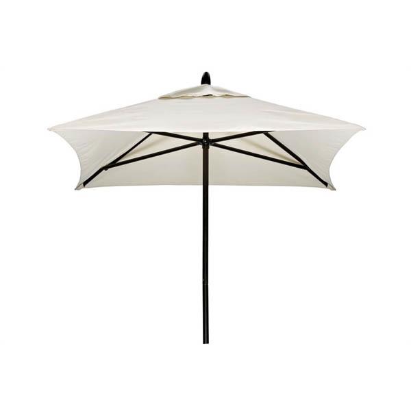 Picture of 6' Square Telescope Casual Commercial Market Umbrella, Powdercoat Aluminum. 17 lbs