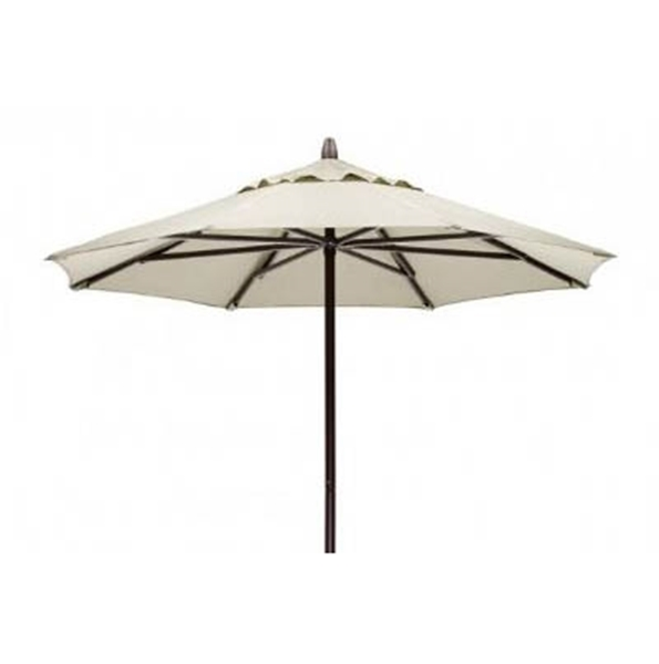 Picture of 7' Telescope Casual Commercial Market Umbrella, Powder coated aluminum frame, 18 lbs.