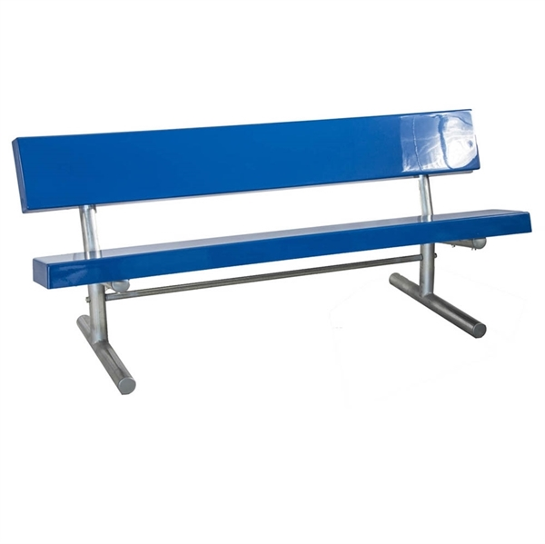 Bench with Back 6 foot Fiberglass with 2 3/8 inch Galvanized Tube